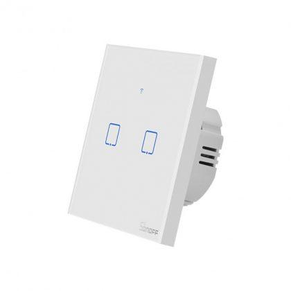 کلید-دو-پل-هوشمند-لمسی-sonoff-t1-با-قابلیت-کنترل-از-طریق-wifi