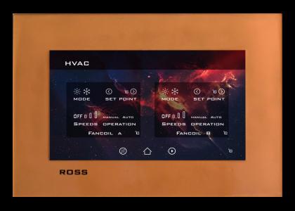 تاچ پنل طلایی سیستم هوشمند Ross